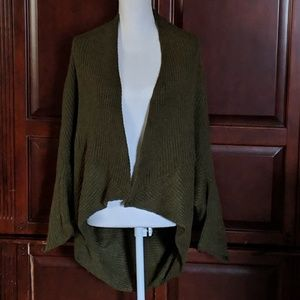 Zara Knit Angora Blend Open Cardigan Size Medium